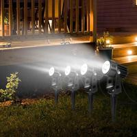 12W LED Lamps Waterproof IP65 Garden Yard Lawn Lighting Aluminum Tempered Glass Landscape LED Lamps Outdoor with Plug