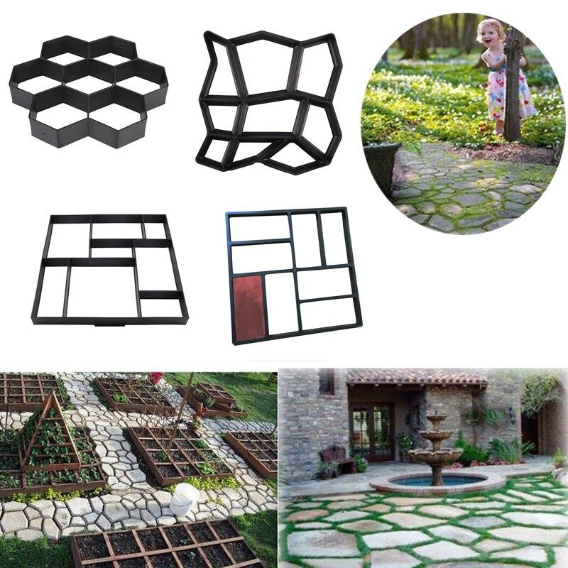 Gartenarbeit Stein Spaziergang Maker Mould DIY Pflaster Beton Form Auffahrt Pflaster Ziegel Kunststoff Für Beton DIY Stein Wege