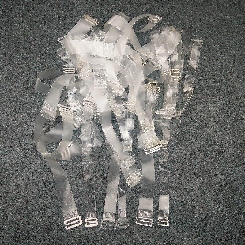 Femmes Transparent Épaule Pasr Mat Ceinture Cristal Invisible Haute Élastique Haute-fin Soutien-Gorge Réglable Fermoir Crochet Transparent