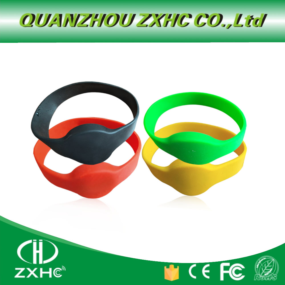 13.56Mhz RFID Waterproof Smart MF1108 (S50 Compatible) ISO14443A Silicone Wristband Bracelet