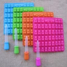 53 полости силиконовая форма медведя Gummy формы для шоколада леденцов желе аппарат-изготовитель кубиков льда лоток самодельный Лед Крем производитель кухонные аксессуары