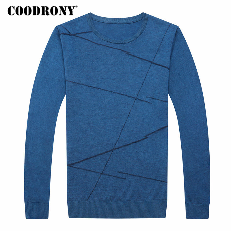 COODRONY Sweater Men Pull Knitted O-Neck Homme Cashmere Wool Autumn Winter Casual New-Arrival