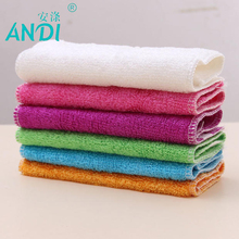 5pcs 100% Pure Bamboo Fibre Dish Cloth Oilproof Non-sticking Double-deck Waste-absorbing Thickening Kitchen Cleaning