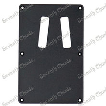 Black Plastic 2 Trough Guitar Pickguard Cavity Cover Cover Back Plate Wiring BackPlate for Guitar Bass guitar accessories