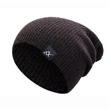 Casual Beanies for Men Women Fashion Knitted Winter Hat Soli