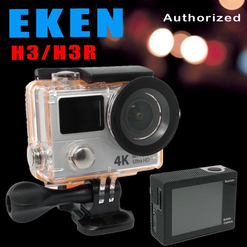 Prix pour 4 k EKEN H3R H3 D'action caméra Ultra HD 4 K Vidéo Sport Caméra 170d grand angle double écran télécommande aller étanche pro yi cam