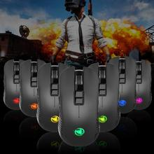 DSstyles T30 Charging Wireless Mouse 3600dpi Adjustable Colorful Light High Sensitivity  Gaming 7D