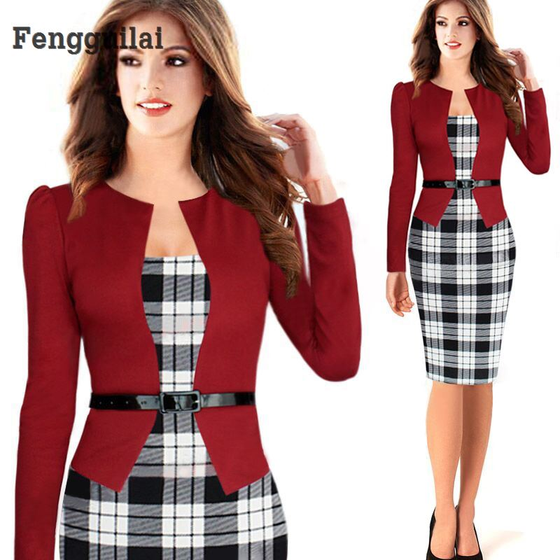 Fast Shipping New Arrival Blazer Business Suits Formal Office Suits Work Long Sleeve Knee -Length Suits With Skirts For Women