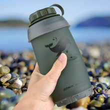 750ml Backpacking Hiking Climbing Bottles Collapsible Water Bottle Reusable Foldable Folding Lightweight Compact for Camping