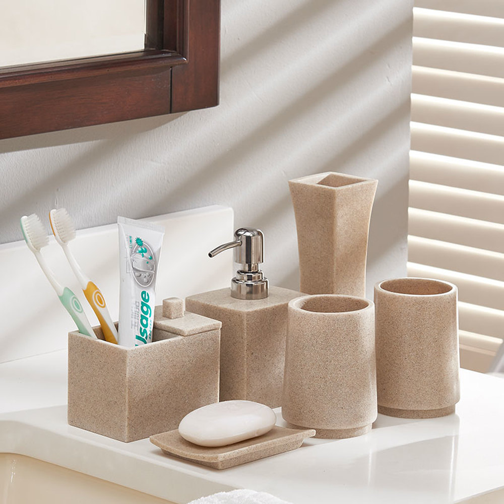 European-style bathroom five-piece wash set bathroom bathroom supplies mouth cup set brush tooth cup toothbrush cup LO725552 ceramic five piece set american bathroom supplies brushing cup bathroom mouthwash cup wash cup set lo7271146