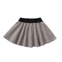 цена на Children's Girls 2020 New British Style Plaid Frill Skirt Fluffy Black Stitching Dance Skirt Kiz Cocuk Elbise Robe Fille #LR5