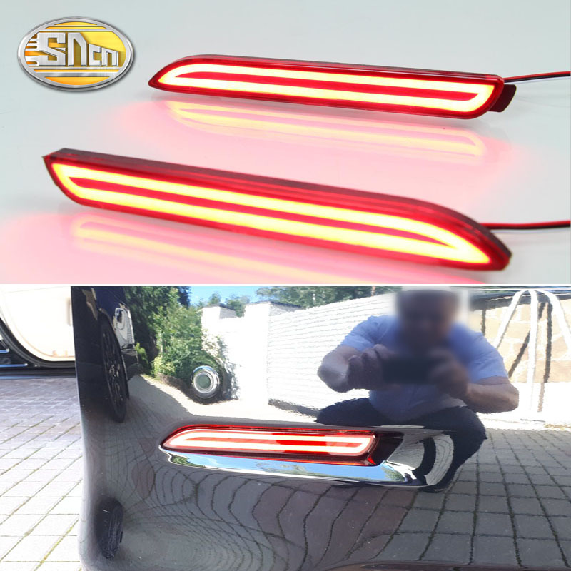 2PCS For Toyota Verso 2011 - 2015 SNCN Multi-function Car Tail Light LED Rear Fog Lamp Bumper Light Auto Brake Light Reflector cicime summer fashion solid rivets lace up knee high boot high heel women boots black casual woman boot high heel women boots