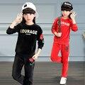 3-14 Anos conjunto de Roupas de Veludo Crianças Crianças outerwear jaqueta com capuz + Calça esporte terno meninas moda camisola de treino roupas