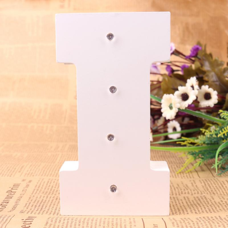 16cm 6 White Wooden Led Lighted Marquee Letters Sign Alphabet Christmas Lights Indoor Wall Deration Wood Letter Light I