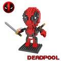 Deadpool hsanhe diy mini building blocks super heroes tijolos de presente para as crianças diy montados brinquedos