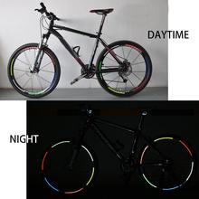 Naklejki kalkomanie rowerowe odblaskowe naklejki taśmy rowerowe taśma odblaskowa naklejki koło rowerowe akcesoria rowerowe tanie tanio Reflective laser sticker mix size