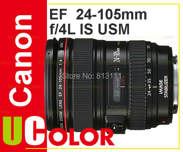 Original New Canon EF 24-105mm f/4L IS USM Standard Zoom Lens (White Box)  цена