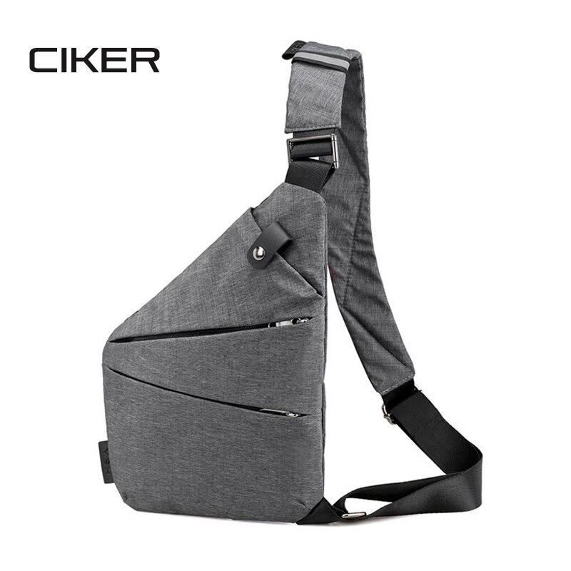 CIKER Unisex Anti-Theft Mens Messenger Bag Shoulder Bags Hidden Chest Pack Mens Retro Crossbody Bag Cool Motorcycle Sling Bag
