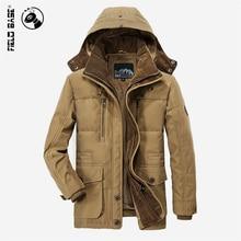 Fileld Base Winter Jacket Men's Thick Warm High Quality Hooded Brand Cotton Coat Casual Parkas Men Plus Size L-4XL PLD13029