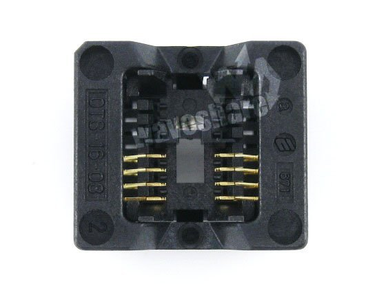 SOP8 SO8 SOIC8 OTS-8(16)-1.27-03 Enplas IC Test Burn-in Socket Programming Adapter 1.27mm Pitch 3.9mm Width