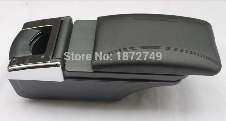 for Low-equiped model   Storage Box Armrest Center Console For KIA K2/RIO 2012-2014 Only fit