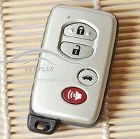 キーレスエントリー新しい4ボタンスマート刃リモート車のキーfobケースシェル用トヨタセコイアアバロンrav4ハイラン