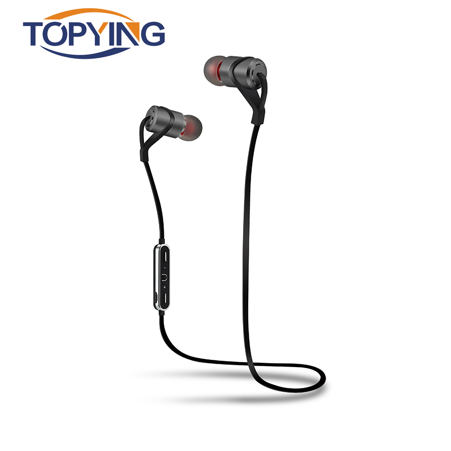 TOPYING Bluetooth Earphone Waterproof For Iphone 7 Plus With Microphone Sport Running Bluetooth 4.1 Earphones With Mic