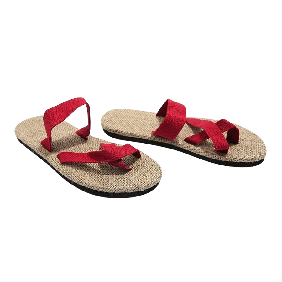 Summer Couples Soled Shoes Straw Flax Linen Lover Men Women Unisex Beach Slipper Herringbone Toe Sandals Home Slipper men beach slipper fashion summer sandals casual shoes toe solid plastic fishermen comfortable water play shoes mc302