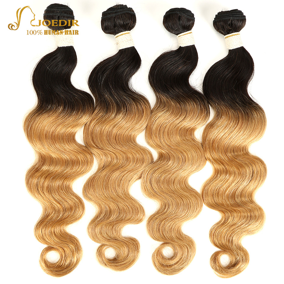 Malaysian Body Wave Hair Bundles 100% Human Hair Weave 4 Bundles Deal Ombre Color T1B 27 Blonde Hair Bundles Two Tone Colorful