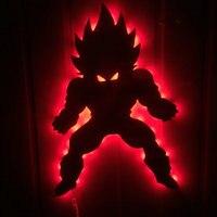 Dragon Ball Z Vegeta Super Saiyan Led Light Lamp Cannon Dragon Ball Super Son Goku Led Table Desk Lamp Telecontrol night light