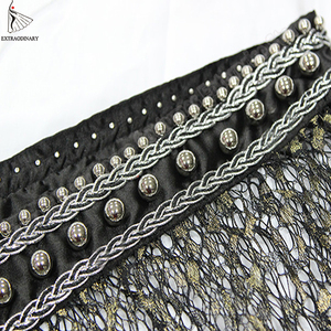 Image 4 - New Hip Scarf Tribal Style Accessories Women Belly Dance Belt Tassel Triangle Bellydance Scarf Hip Bead Hand Made Adjustable