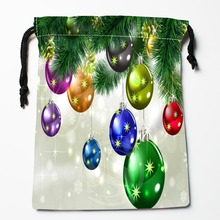 TF&181 New Christmas tree #!J Custom Printed receive bag Bag Compression Type drawstring bags size 18X22cm #812#181YF
