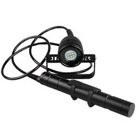 Brinyte/Nitesun DIV10W LED Canister Video Light CREE XML2 4500lm LED Scuba Diving Torch Flashlight 200M Underwater Lamp