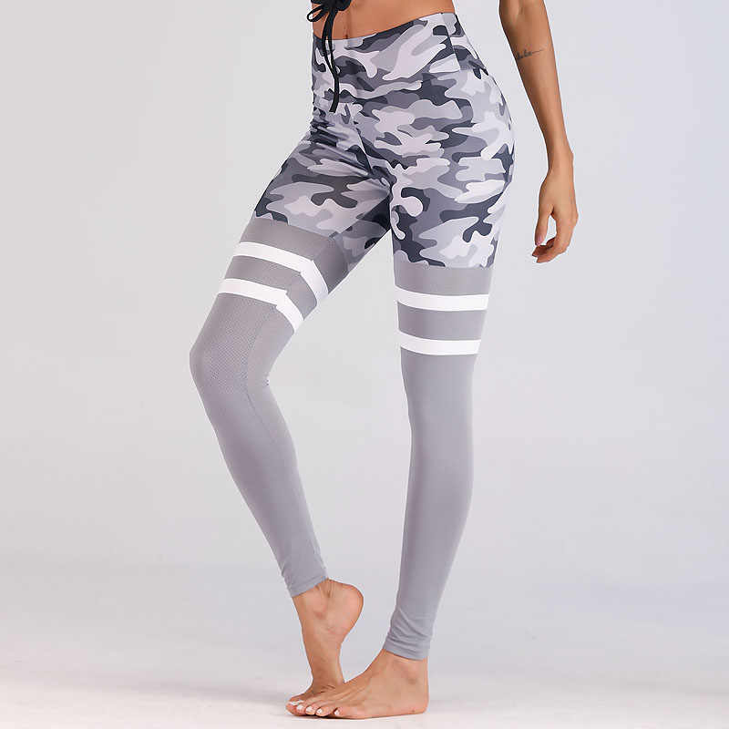 89ca9fae21 2018 Women Camouflage Leggings for Fitness High Waist Booty Leggings Push  Up Sports Pants Workout Printed