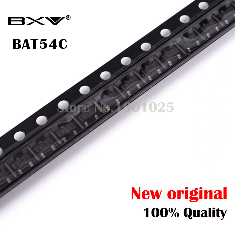 100PCS BAT54C SOT-23 BAT54 SOT SMD KL3 New And Original Free Shipping