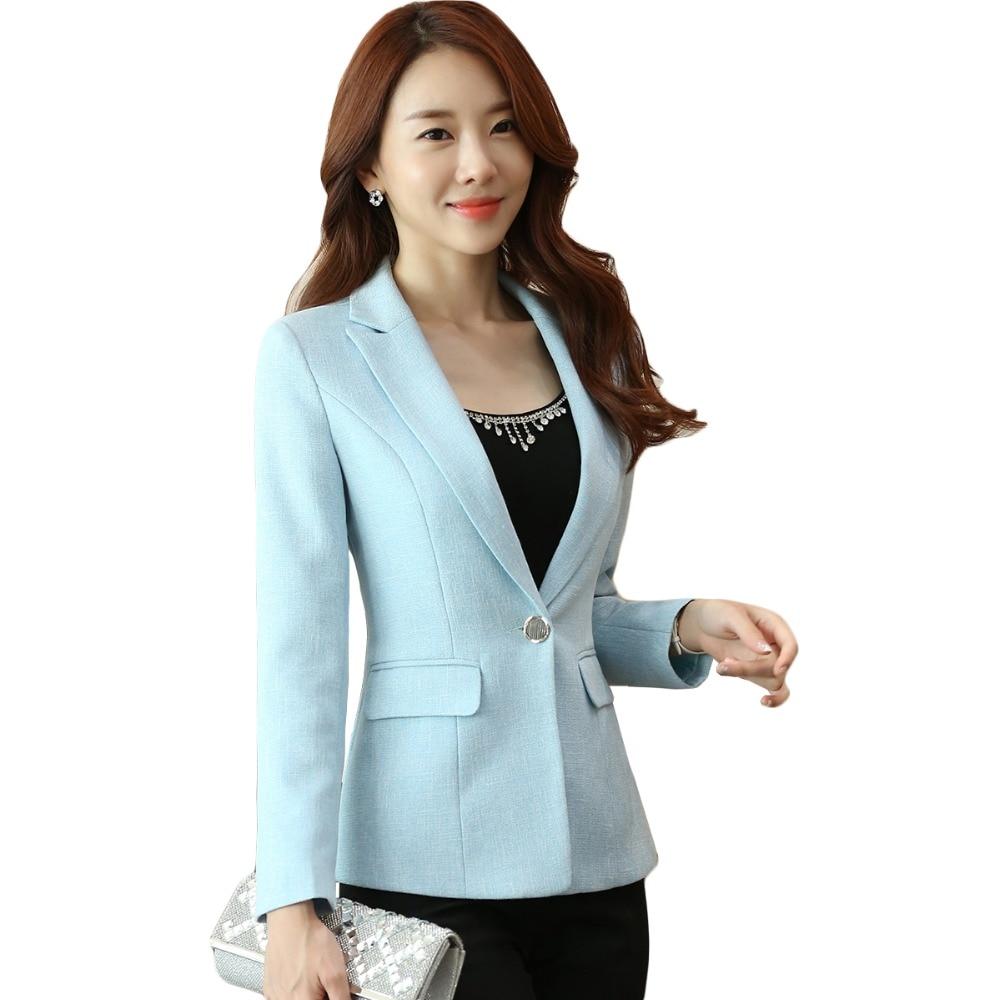 Damen Blazer Feminino Plus Größe 4XL Formale Jacke frauen Weiß Blaser Rosa Weiblichen Blauen Frauen Anzug Büro Damen Baumwolle leinen