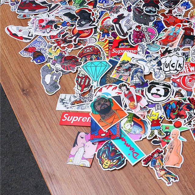 Pcspack Jordan Mixte 100 Vélo Autocollants Sneaker Pour Portable dwEqq45