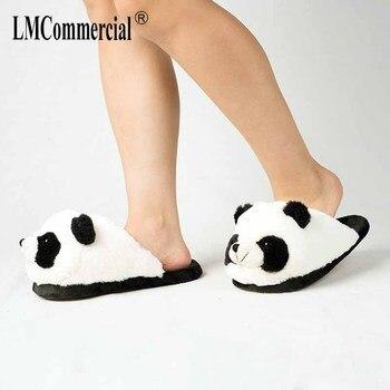 Cotton Plush Special Indoor Soft panda Shoes Men&Women Slippers custom Slipper Cottoon Slipper floor lovers shoes Winter Warm 5
