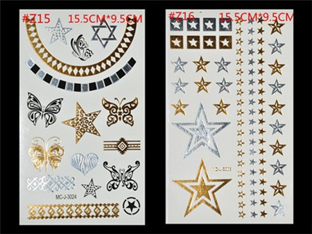 Free Shopping Sex Products Temporary Tattoo For Man And Women Waterproof Stickers makeup make up Flash Gold Tattoo 15