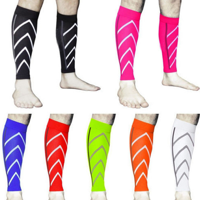 1 Pair Calf Support Graduated Compression Leg Sleeve Socks Outdoor Exercise Sports Safety NFE99