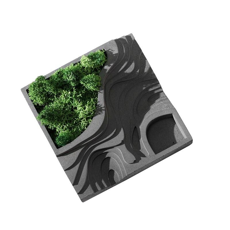 Nicole Silikon Beton Form für Moss Sukkulenten Pflanzen Blumentopf Platz Terrasse Form Handgemachte Zement Pflanzer Form