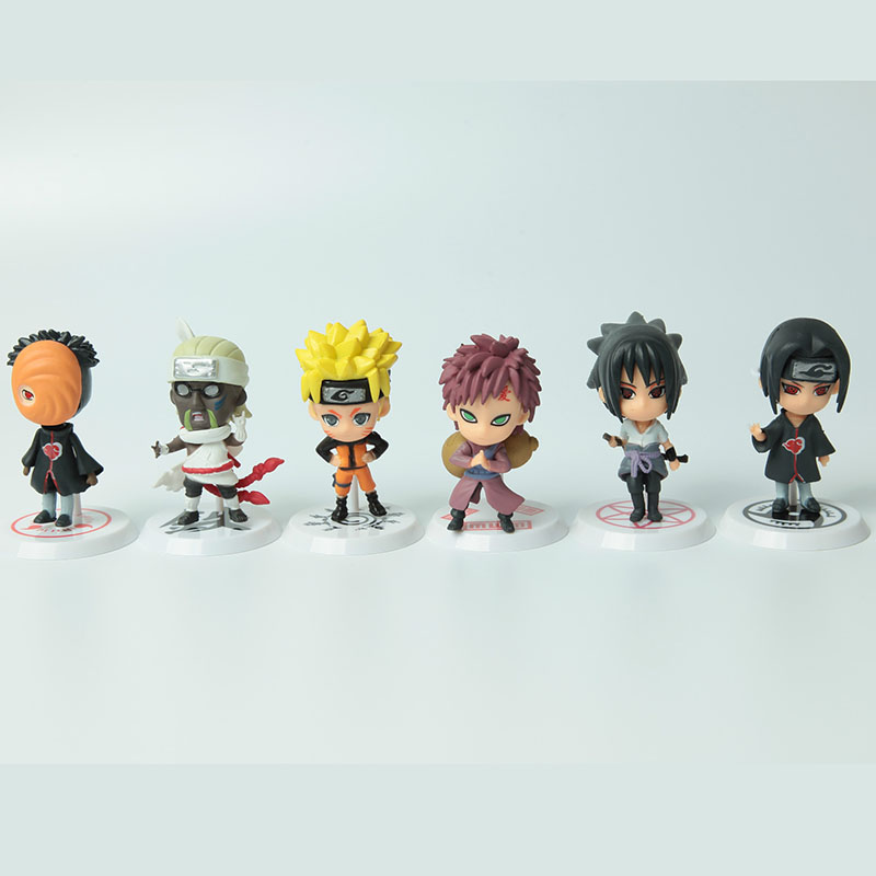 Hot Sale <font><b>Anime</b></font> <font><b>Naruto</b></font> <font><b>Action</b></font> <font><b>Figure</b></font> toys Q Version Sasuke Haruno Sakura <font><b>Uchiha</b></font> <font><b>Itachi</b></font> <font><b>PVC</b></font> <font><b>Figures</b></font> Model Collection Toy WX170C