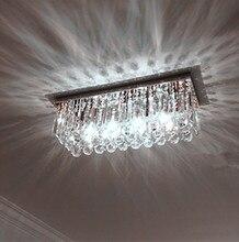 Home Led Rectangular clear K9 crystal Light Porch ceiling Lamp dining room Kitchen Lights Modern Ceiling Lights Luminaria Led