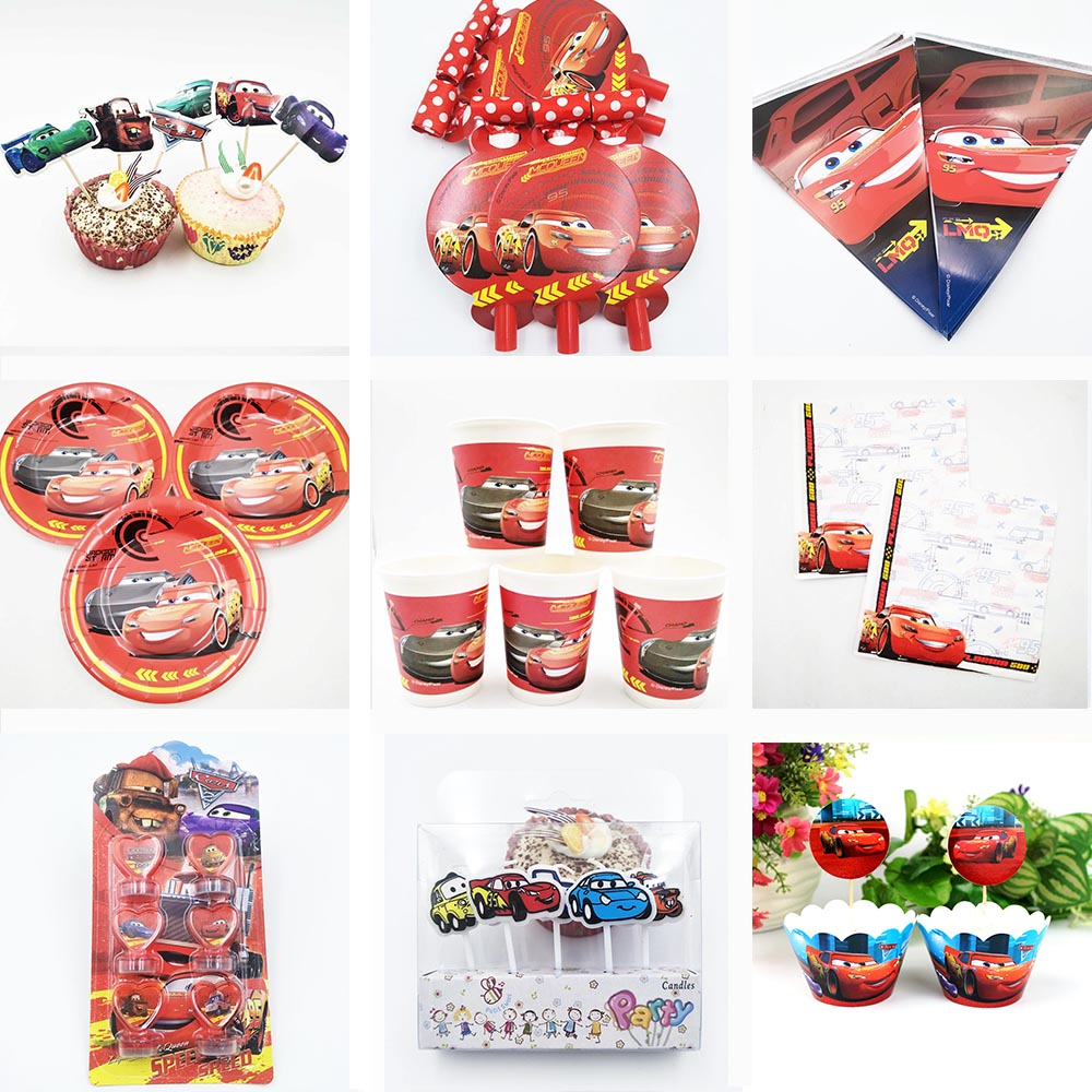 Lightning Mcqueen Party Disney Cars Kids Birthday Stickers Decorations Supplies Baby