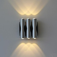 Wall Sconce Aluminium Acrylic 6W Modern Led Wall Light Lamp With 6 Lights For Home Lighting