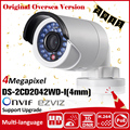 HIKVISION Original DS-2CD2042WD-I Full HD 4MP High Resoultion 120db WDR POE IR IP Bullet Network CCTV Camera English Version