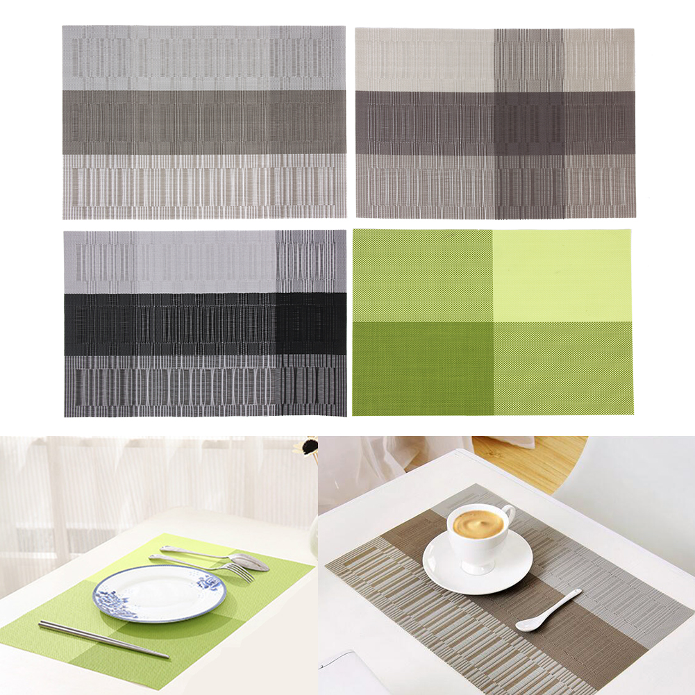 1PC Europe Style PVC Dining Table Mat Disc Pads Bowl Pad Waterproof Slip-resistant Table Pad Home Table Decoration