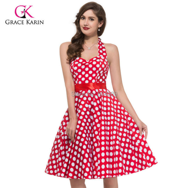 Vestido de gracia Karin algodón Vintage, pin up Rockabilly vestidos ...