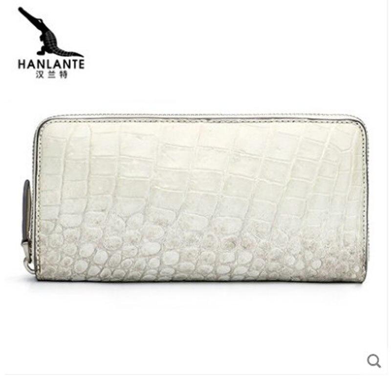 hanlante Crocodile leather wallet for women leather long handbag 2019 new belly wallet for women - 4