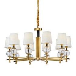 Nowoczesne żyrandole i wisiorki w stylu amerykańskim do jadalni pokój dzienny sypialnia hotel zawieszenie metalowa lampa wisząca